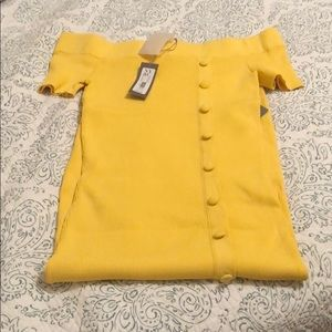 EVA MENDES FOR NY&CO YELLOW DRESS SIZE M NWT
